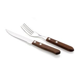 Sada steakových příborů dřevo