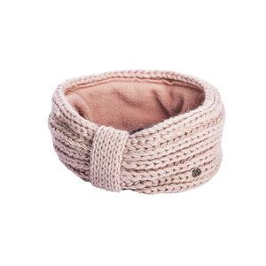 Dámská pletená čelenka s fleece