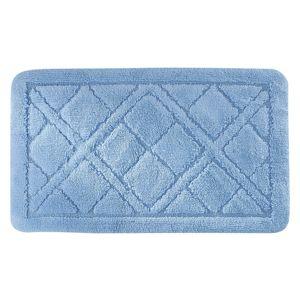 Koupelnová předložka Kosočtverce, modrá Barva: Modrá, Velikost: 60x100cm