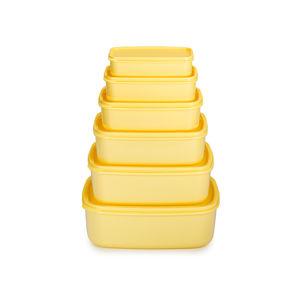 6dílná sada potravinových dóz žlutá